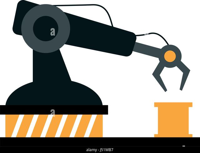 Assembly Icon: Assembly Line Industrial Machine Icon Stock Photos