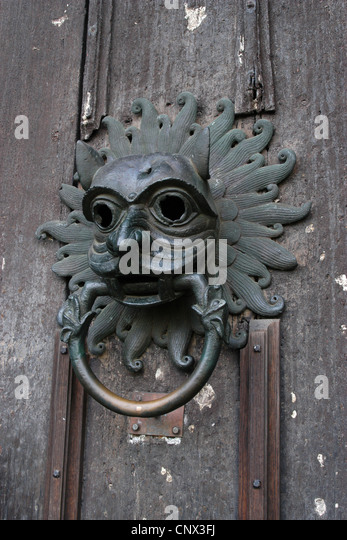 Norman sanctuary knocker on the door of the Durham Cathedral in North East England UK & Norman North Door Stock Photos u0026 Norman North Door Stock Images ... pezcame.com