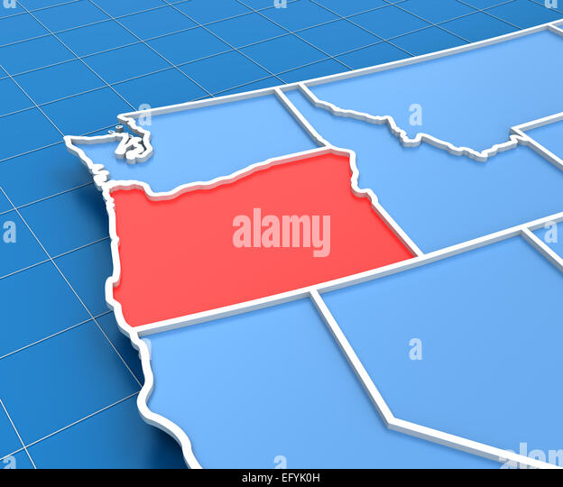 Map Of Oregon State Stock Photos Map Of Oregon State Stock - Usa map oregon