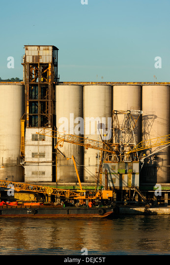Silos ship port stock photos silos ship port stock images alamy - The industrial looking sauna in the port city of goteborg ...