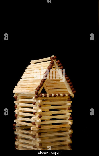 how to build a matchstick house