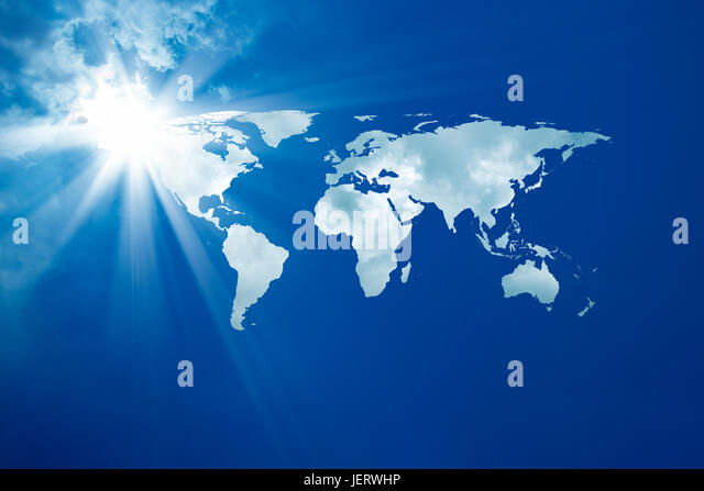 conceptual background image of world map. Furnished NASA world image used for this image. - Stock Image