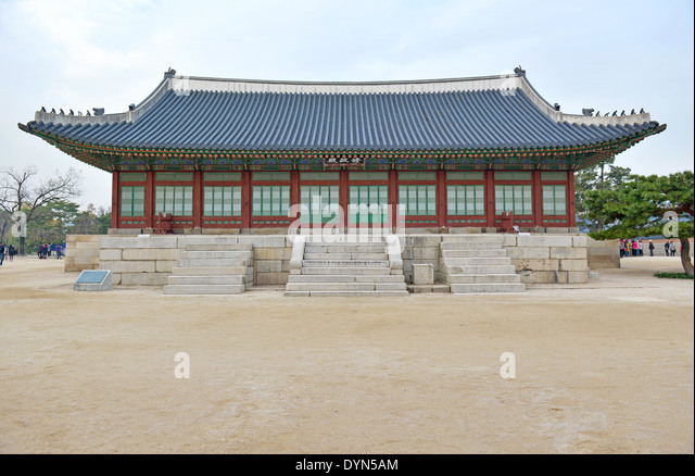 Traditional Architecture In Royal Palaces Seoul South Korea