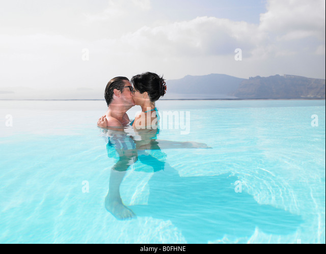 Couple Together Swimming Ocean Stock Photos Couple Together Swimming Ocean Stock Images Alamy