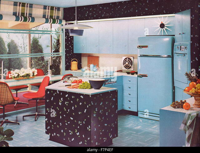 1950s Kitchen Design 1950s kitchen design stock photos & 1950s kitchen design stock