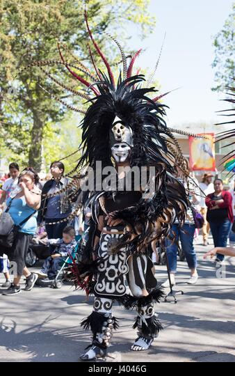 Dancers In Traditional Aztec Costume At The Mayday Parade In Minneapolis J G on Aztec Dancer In Mexico