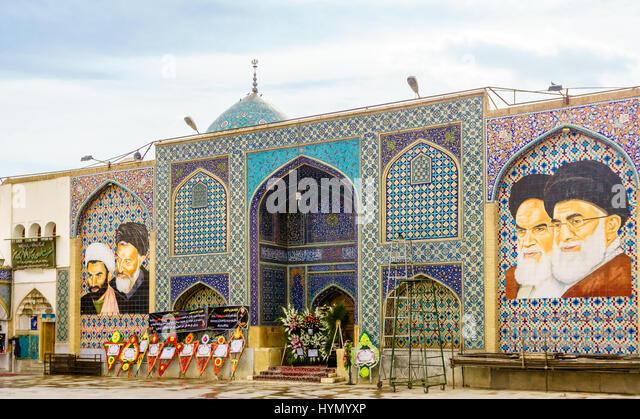 Non Muslim Perspective On The Revolution Of Imam Hussain: Ayatollah Ruhollah Khomeini Stock Photos & Ayatollah