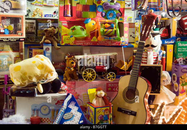 christmas toy shop window stock photos  u0026 christmas toy