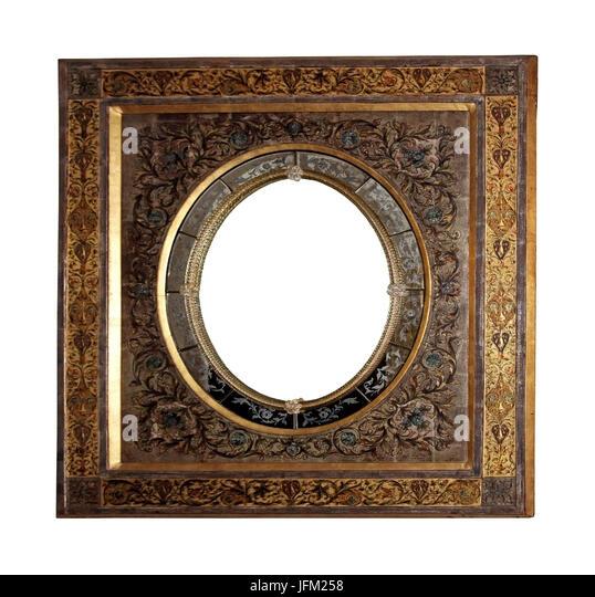 Gold Floral Vintage Frame Stock Photos & Gold Floral Vintage Frame ...