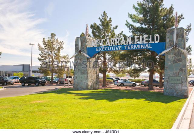 McCarran Field Executive Terminal, Las Vegas, Clark County, Nevada, USA - Stock Image