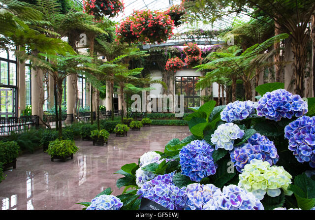 The Conservatory At Longwood Gardens, Kennett Square, Pennsylvania, USA    Stock Image