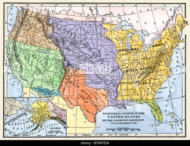 United States Map 1800s Stock Photos United States Map 1800s