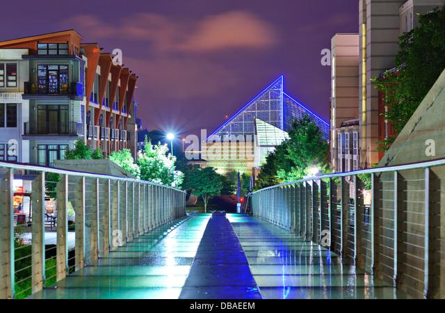 Garden Walk Chattanooga: Pedestrian Bridge Walkway Stock Photos & Pedestrian Bridge