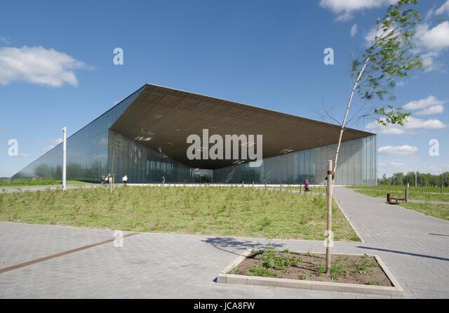 Estonian National Museum main building. 14th june 2017 Tartu. Estonia - Stock Image
