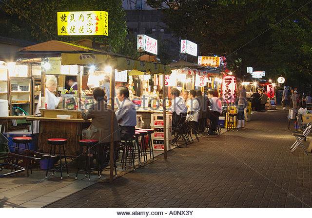 One Minute: Yatai Stalls on Nakasu Island, Fukuoka, Japan - YouTube