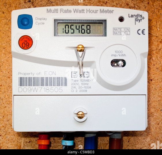 Electric Hour Meters : Electricity meter stock photos