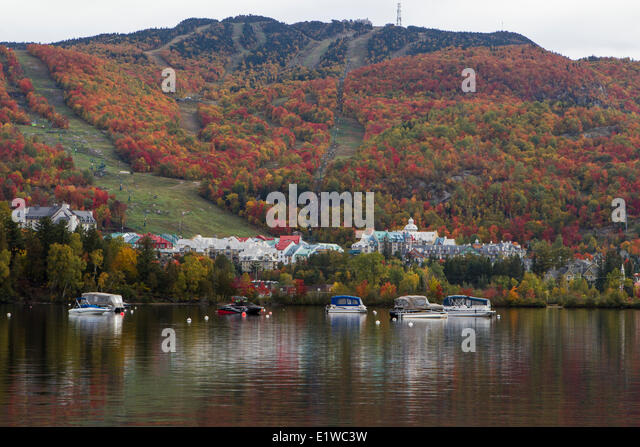 Mont tremblant ski resort stock photos mont tremblant for Lac miroir mont tremblant