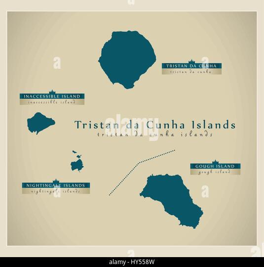 Tristan Da Cunha Stock Photos Tristan Da Cunha Stock Images Alamy - Tristan da cunha map