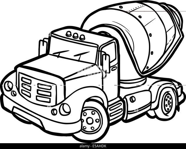 Concrete Clip Art : Cartoon cargo truck stock photos