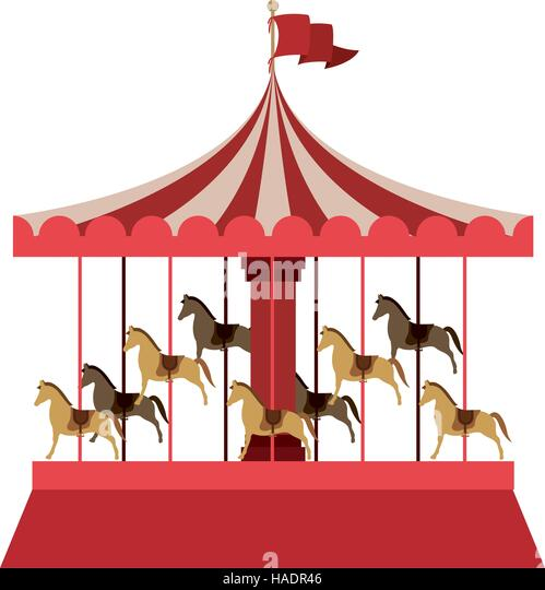 Illustration Merry Go Round Stock Photos & Illustration ...