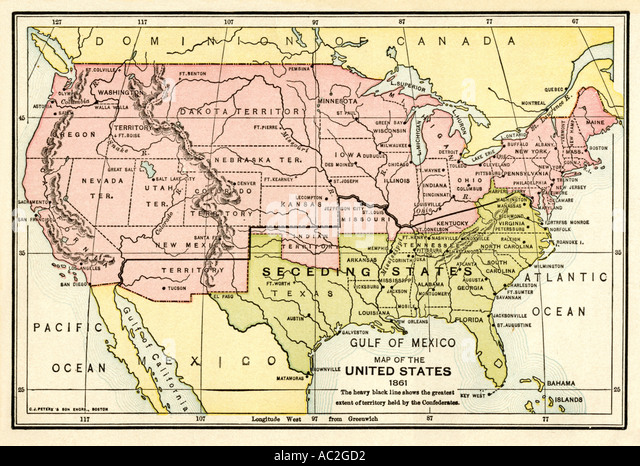 Secession Stock Photos Secession Stock Images Alamy - Secession map of us 1860