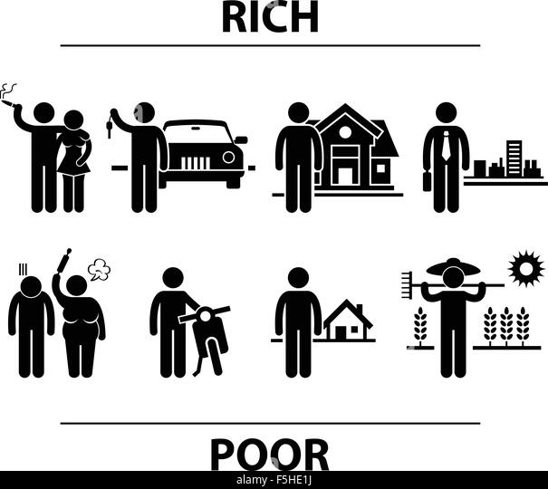 essay on difference between rich and poor people A generation ago , there was no noticable difference between industrialized and developing countries since both nations integrated and helped each other hovewer,nowadays, why are so many.