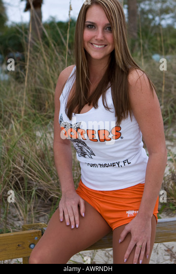 Abby Hooters Calendar May : Hooters girl stock photos images alamy