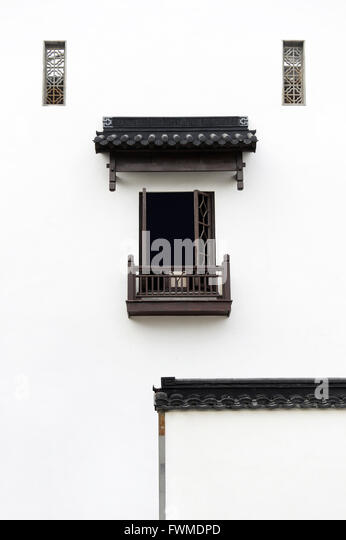 Traditional Construction chinese style window frame stock photos & chinese style window