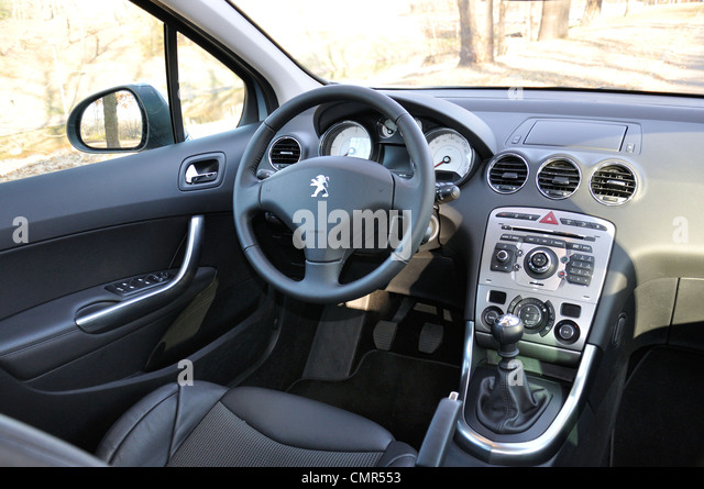 interior dashboard cockpit peugeot stock photos interior dashboard cockpit peugeot stock. Black Bedroom Furniture Sets. Home Design Ideas