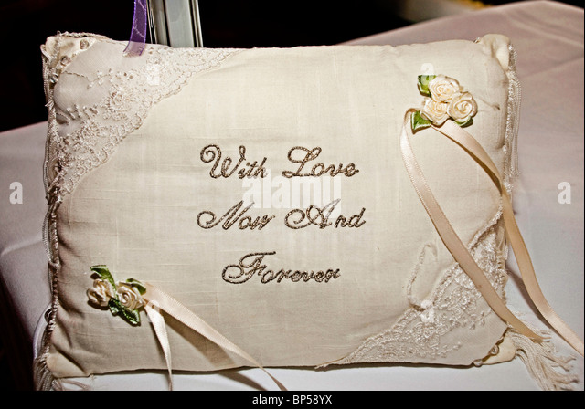 Embroidered cushion stock photos