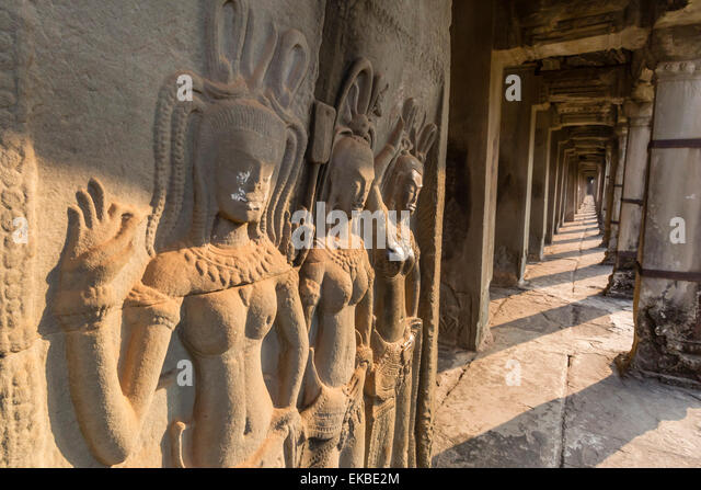 Bas relief carvings stock photos