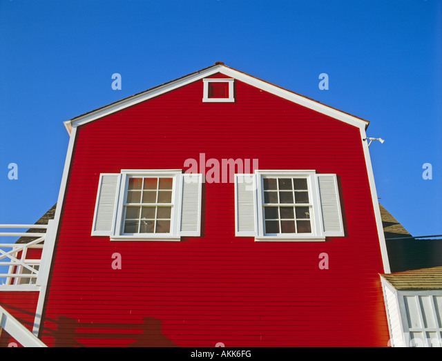 Amazing Red Painted House Marina Del Rey Los Angeles California United States    Stock Image