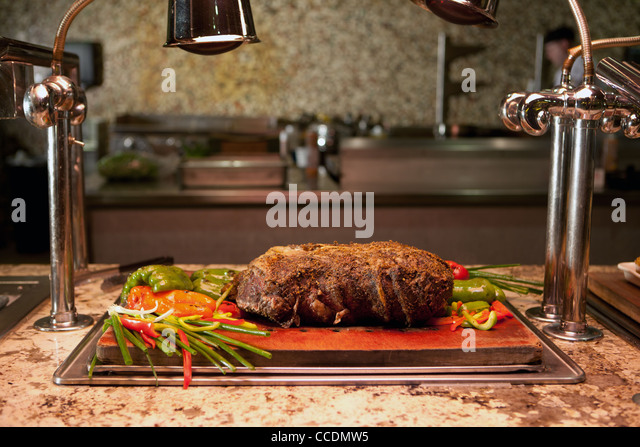 Carving station stock photos