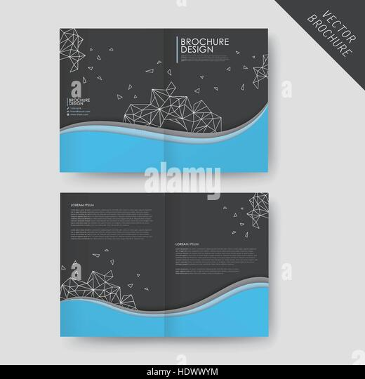 Abstract Half Fold Brochure Template Design Stock Photos