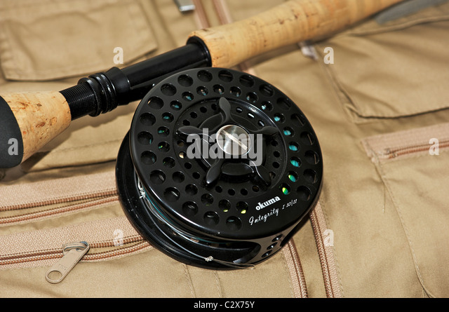 saltwater fly reel stock photos & saltwater fly reel stock images, Fishing Reels