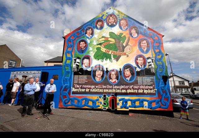 Ira hunger strike stock photos ira hunger strike stock for Mural northern ireland