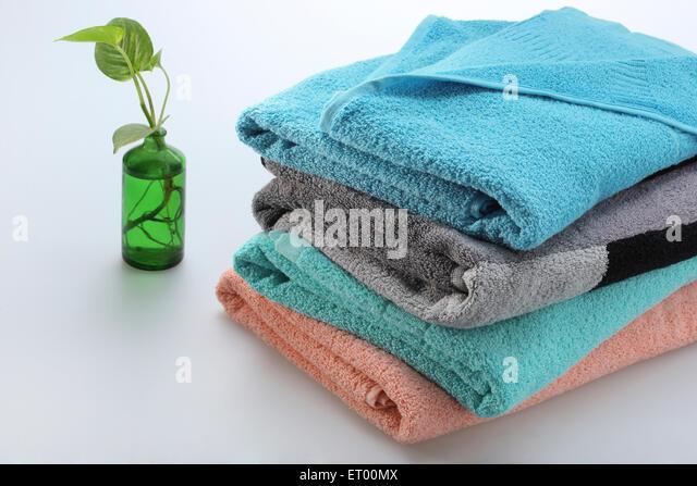 colourful cotton turkish bath towels india stock image