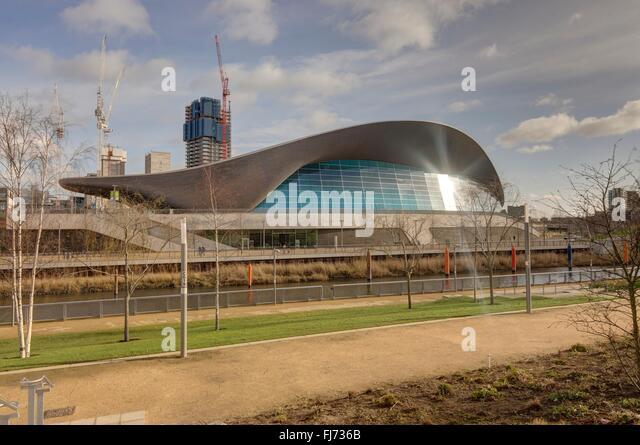 Aquatics Centre London Architecture Stock Photos Aquatics Centre London Architecture Stock