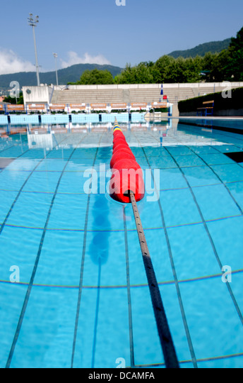 Olympic size swimming pool stock photos olympic size swimming pool stock images alamy - Olympic swimming pool lanes ...