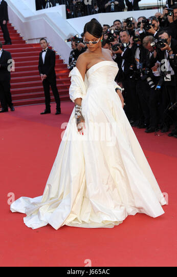 70th Cannes Film Festival 2017, Red Carpet film 'Okja'. Pictured : Rihanna - Stock Image
