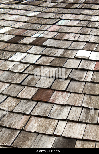 Old Worn Shingle Roof Pattern Stock Photos Amp Old Worn