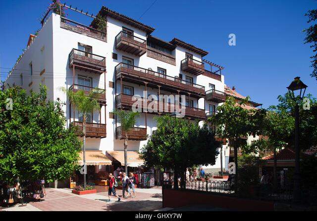Spanish hotel balcony view stock photos spanish hotel - Monopol hotel puerto de la cruz ...