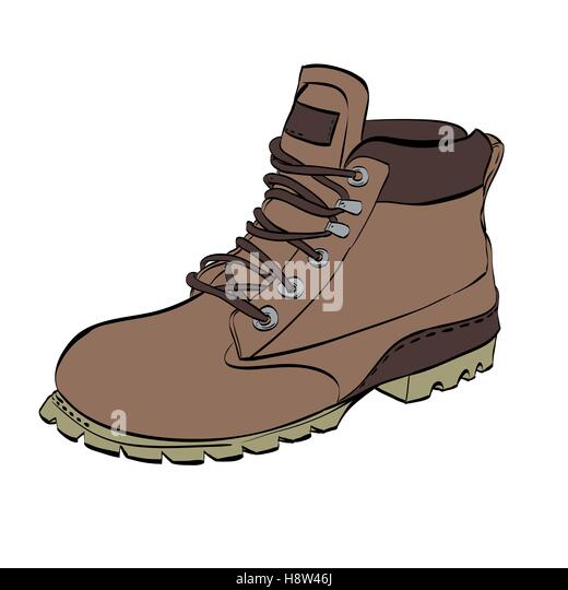 Mountain climbing placard in retro style camping and hiking elements - Hiking Boots Illustration Stock Photos Amp Hiking Boots