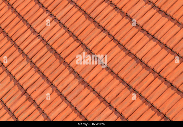 Tile roof close up stock photos tile roof close up stock for Roof tile patterns