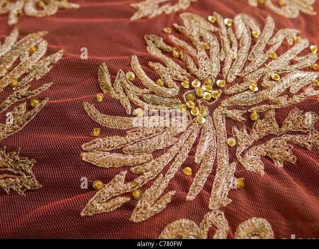 Zardozi embroidery stock photos
