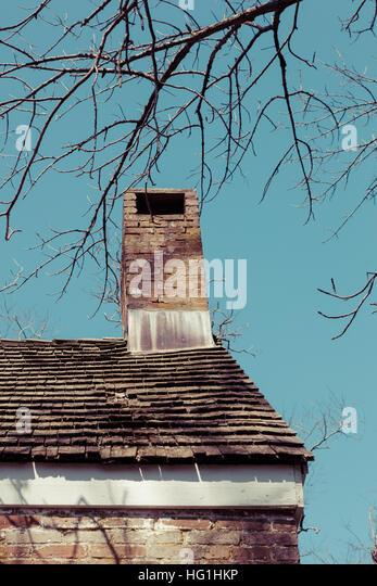 Cedar Shingle Chimney : Cedar roof shingles stock photos