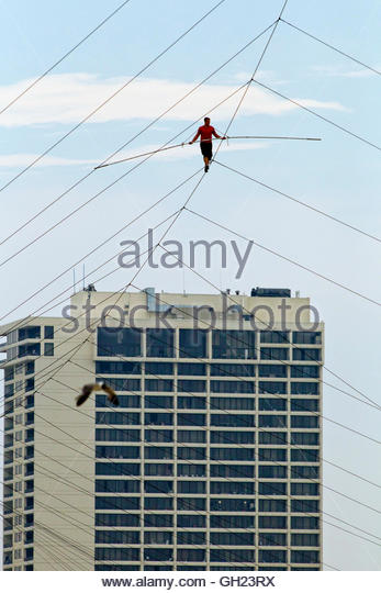 meter and wire stock photos meter and wire stock images alamy high above the california avenue beach tightrope walker nik wallenda walks the high wire in