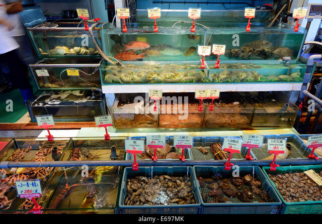 Live fish trade hong stock photos live fish trade hong for Animals that are included in the cuisine of seafood