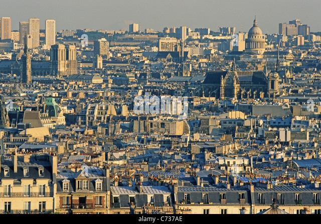 View of roofs of Paris in the evening sun Paris France Europe - & Roof Roofs Rooves Stock Photos u0026 Roof Roofs Rooves Stock Images ... memphite.com