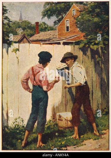an overview of the life of tom sawyer in the novel the adventures of tom sawyer by mark twain Mark twain's the adventures of tom sawyer (1876) is a book for readers of all ages most readers pick it up young and enjoy it, but too few come back to it later on, when its dark shadings and affectionate satire of small-town life might hit closer to home.